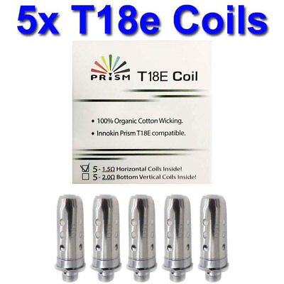 INNOKIN T18E / T22E COILS Replacement Prism Endura Coil Heads 1.5ohm (Pack of 5)