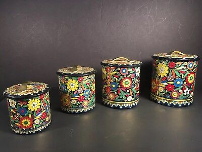 Set Of Four Holland Nesting Canisters Tins