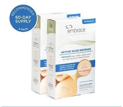 """Embrace Active Scar Defense Silicone Scar Sheets, 4.7"""", 3 Silicone Dressings"""