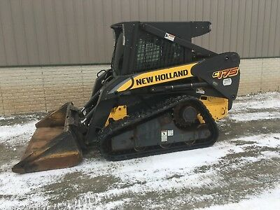 """New Holland C175 Skidsteer Compact Track Loader Heat/ac 650Hrs 72"""" Bucket"""