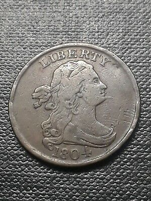 1804 Draped Bust Half Cent Spiked Chin Variety