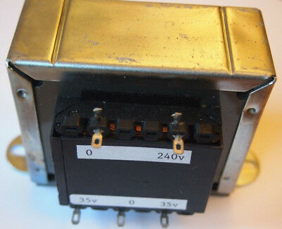 MAINS TRANSFORMER (clamp) input 240 VAC; output 35v-0-35v at 50VA  UK SELLER