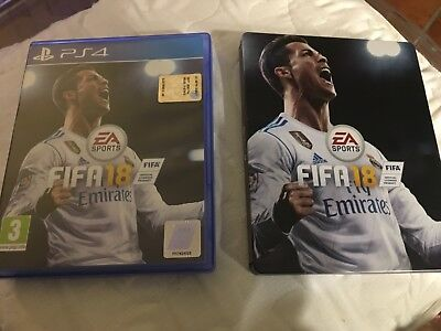 Ps4 playstation 4 originale Italiano gioco FIFA 18 + STEELBOOK