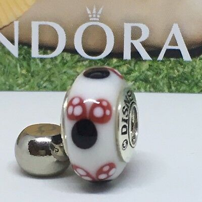 Sterling Silver Charm MURANO MINNIE ALE S925 Genuine Pandora bag