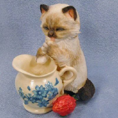 Country Artists Cream Teas Kitten Item #02230 - New in Box