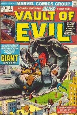 Vault of Evil #9 in Very Good + condition. Marvel comics [*96]