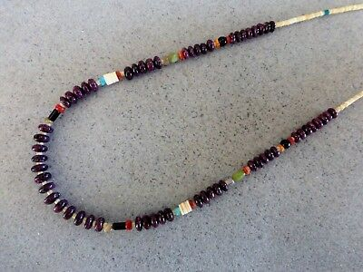 Auth.Native American Indian Purple Spiny Bead/Voluta Heishi Necklace/Choker