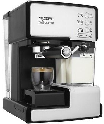 Mr. Coffee BVMC-ECMP1102 Cafe Barista Espresso and Cappuccino Maker, White