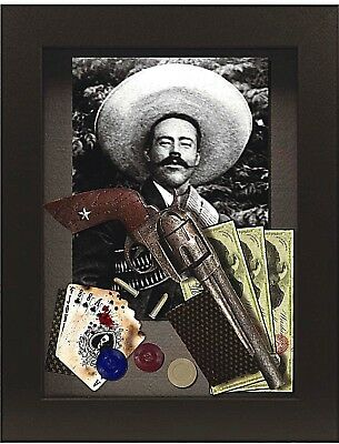 Pancho Villa Old West Gunfighter Shadow Box