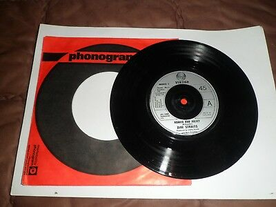 7inch   dire straits   romeo and juliet + solid rock