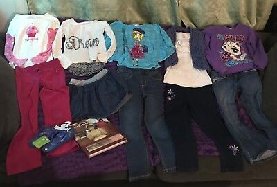 Girls Mixed Clothes Lot Outfits Tops Pants Size 6/7 & 7/8 Gymboree Old Navy Gap