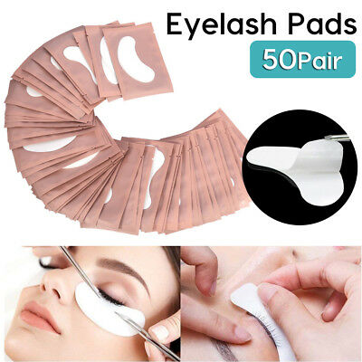 50 Pair Under Eye Curve Eyelash Pads Gel Patch Lint Free Lash Extension Beauty