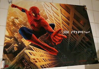 Spider-man Subway Poster original first movie Tobey Maguire 5ft by 3.5