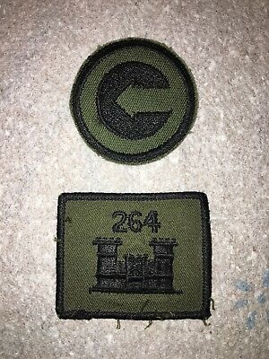 WW2 US Army Castle Badge Patch & Patch W/arrow In Circle (Lot Of 2)