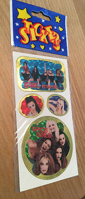 Vintage 90's Spice Girls Stickers - Shiny Iridescent - New