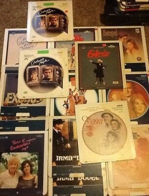 17 CED VideoDisc lot Many Miscellaneous Movies with a new Terms of Endearment