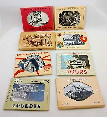Lot of 6 Vintage Souvenir Photos Packs from Europe