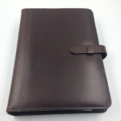 Coach day planner organizer leather brown 2005 9.5 x 7 inches