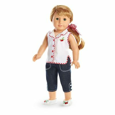 Maryellen CHERRY PLAY OUTFIT SET jeans shoes hair tie 50's American Girl Doll