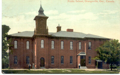 Public school-Orangeville,Ontario 1910(Dufferin Co)