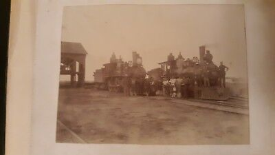 160 vintage photos of trains/tracks/depots/crew/townspeople/little boy by train