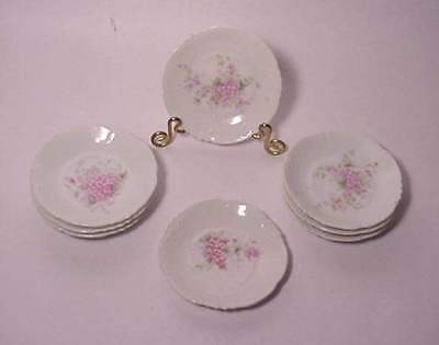 8 Vintage Butter Pats Wild Rose Ranson Unmarked