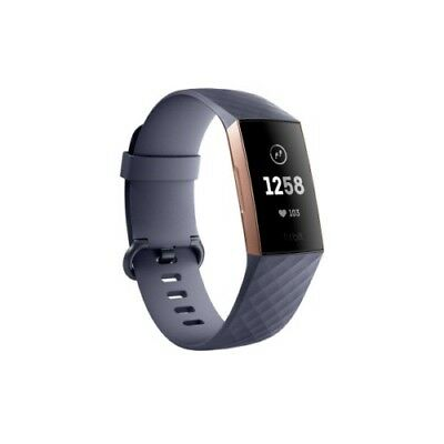 NEW Fitbit Charge 3 (Blue Grey / Rose Gold) Aluminium - One Size S & L