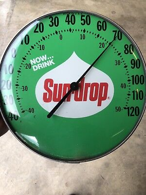 Sundrop Soda Thermometer Glass