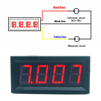 DC 0-99.99V (100V) 4-digits 0.56inch Digital Voltmeter 3Wire Voltage Panel Meter