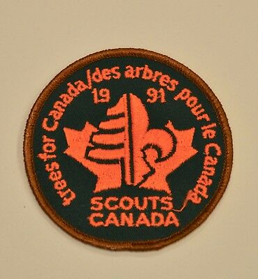 Vintage Boy Scouts Patch Bsa 1991 Trees For Canada Cub Wilderness