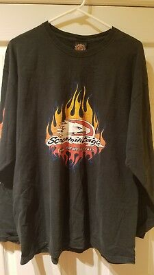 Harley Davidson Screamin Eagle Performance T-Shirt Size XL Black Long Sleeve