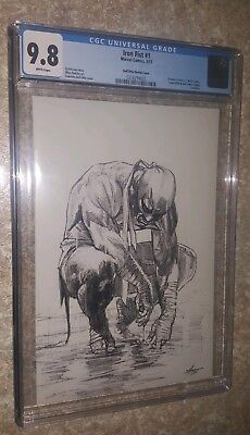 Iron Fist #1 CGC 9.8 Gabriele Dell'Otto Sketch Variant Cover!  Black Friday Deal