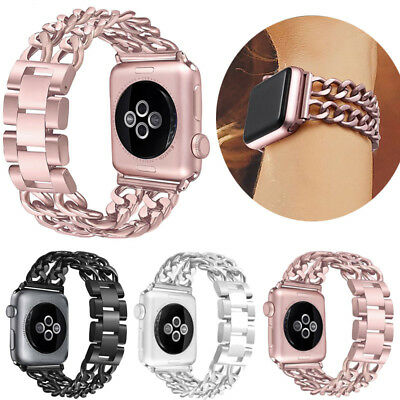 Women Stainless Steel Strap For Apple Watch Series 4 3 2 1 40mm 44mm iWatch Band