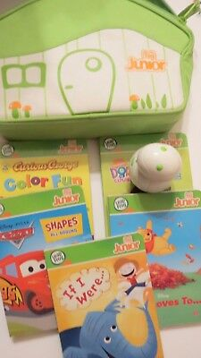LEAP FROG ~ TAG JUNIOR READING SYSTEM LOT ~ 5 Books ~ Case ~ Reader Pen Jr