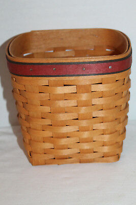 1994  Longaberger Father's Day Tall Tissue  Basket