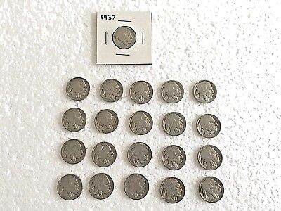 56 Buffalo & Jefferson Nickels - Dates Visible on Coins - See Date List Below