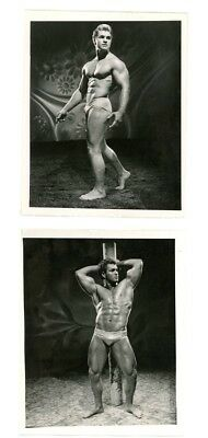 RARE 2 EA Vintage 1940s BOB MIZER AMG photos BUD COUNTS MALE NUDE classic MUSCLE