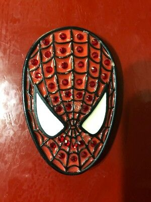 Red Bling Spiderman Belt Buckle