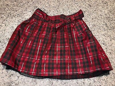 Girl's Cherokee Target Red Plaid Skirt Sz XS 4-5 Red Plaid Chirstmas Holiday