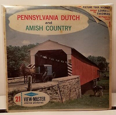Pennsylvania Dutch - View Master Complete 3 Reel Packet #A-633 from 1953