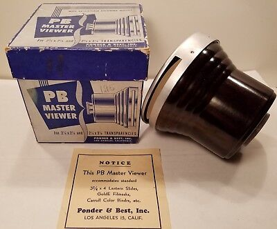 P.B. Master Slide Viewer in Original Box Very Good Condition! Well Cared For!