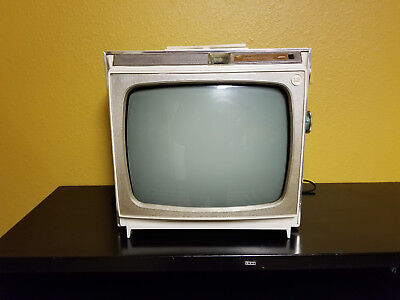 Vintage  Admiral  Portable  B&W  TV  Black and White Television Set 1960's