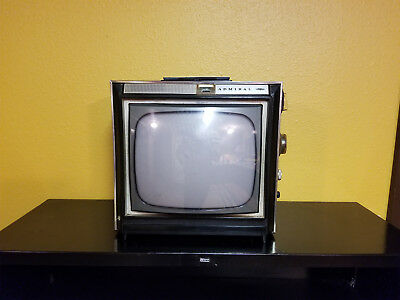 Vintage Admiral Portable B&W TV  Black and WhiteTelevision Set Bubble 1960's