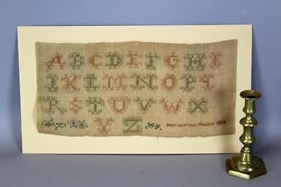 """A Very Rare Dated 1834 Walden Ny Needlework Sampler Signed """"mary Ann Cox"""""""