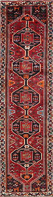 One-of-a-Kind Antique Tribal Lori Qashqai Persian Hand-Knotted 3'x10' Runner Rug