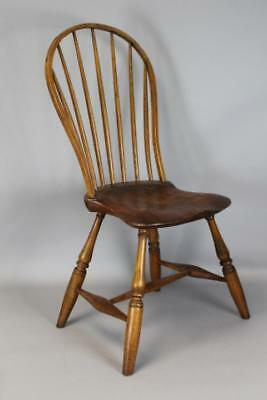 Rare Signed W. Love 18Th C Pa Bowback Windsor Chair Strong Form Philadelphia Pa