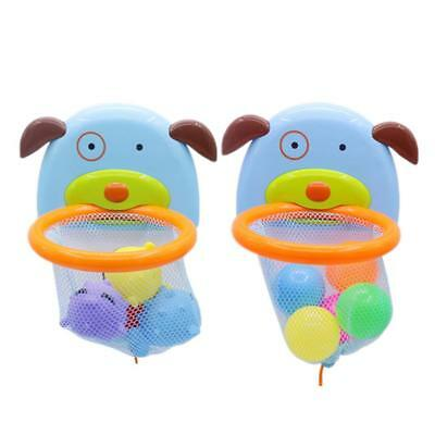 Baby Shoot Splash Basketball Hoop Bathtub Bath Toy Dabbling Ocean Balls Set