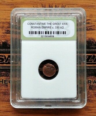 Ancient Roman Coin - Constantine the Great - 330 AD - Authenticated / Sealed