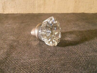 Antique Victorian 12 Point Crystal Glass Door Knobs Architectural Vintage
