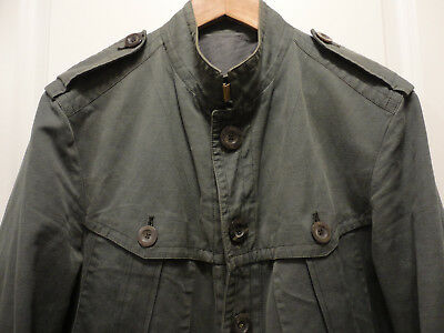 363b3dcd2012 GUCCI Army Green Cotton Hemp Selvedge Military Field Jacket 50/40 Made in  Italy